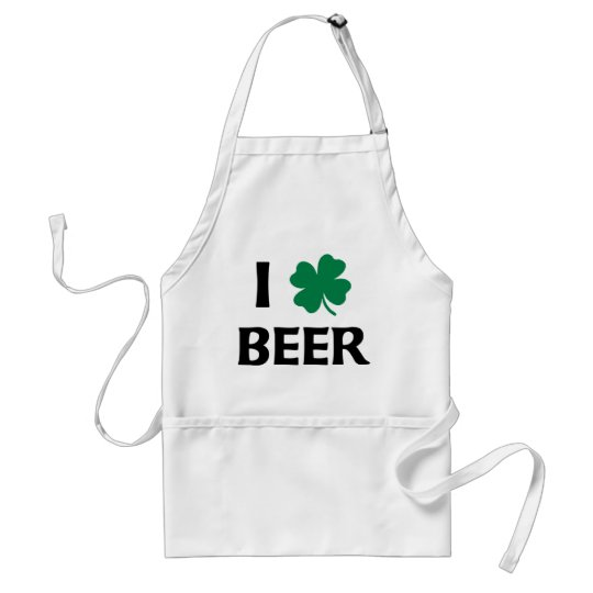 I Love Beer Adult Apron