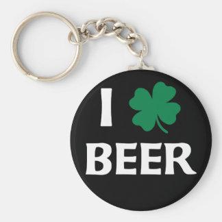 I Love Beer Basic Round Button Keychain