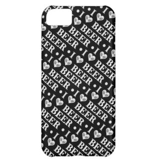 I Love Beer (black and Silver) iPhone 5C Cover