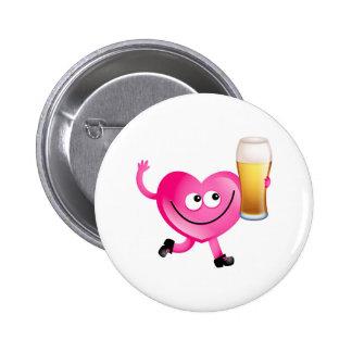 I Love Beer 2 Inch Round Button