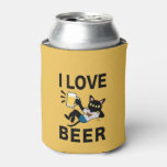 I Love Beer Can Cooler at Zazzle