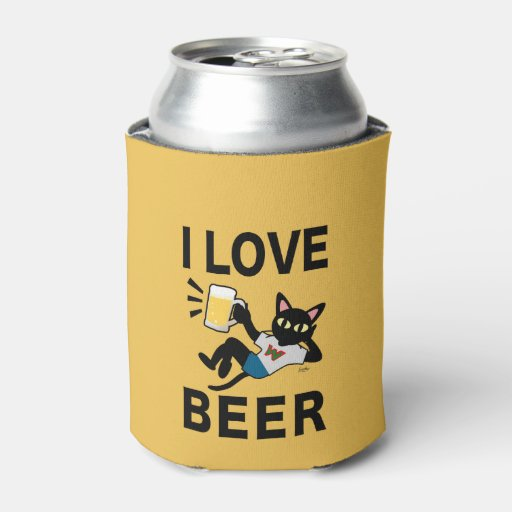 Beer Can Cooler ~ I love beer can cooler zazzle