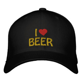 I Love Beer Embroiderd Cap Embroidered Hats