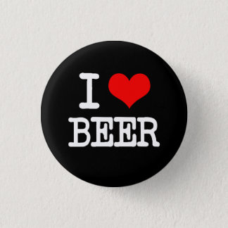 I Love Beer funny saying button