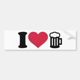 I love Beer Glass Bumper Sticker