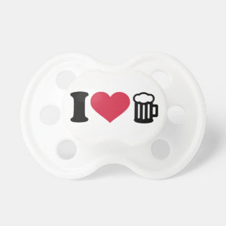I love Beer Glass Baby Pacifiers
