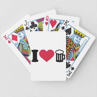 I love Beer Glass Bicycle Card Deck