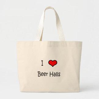 I Love Beer Halls Tote Bag