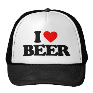 I LOVE BEER HATS