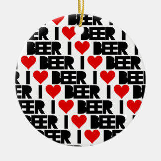 I love Beer - Have a Beery Xmas Ceramic Ornament