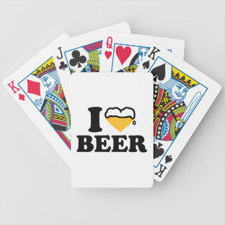 I love beer heart playing cards