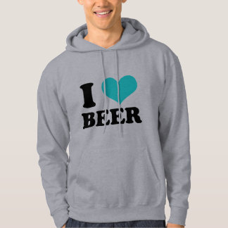 I Love Beer Hooded Pullover