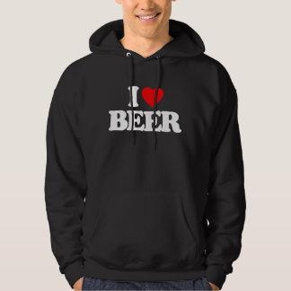 I LOVE BEER HOODED SWEATSHIRTS