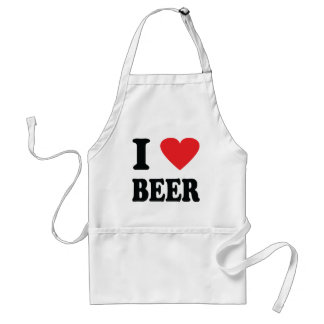I love beer icon adult apron