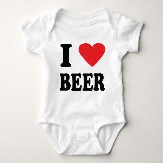 I love beer icon baby bodysuit