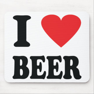 I love beer icon mouse pad