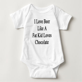 I Love Beer Like A Fat Kid Loves Chocolate Baby Bodysuit