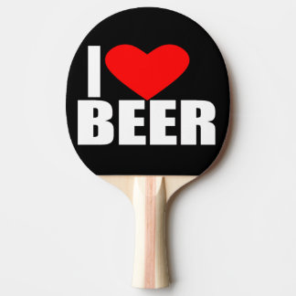 i love beer ping pong paddle