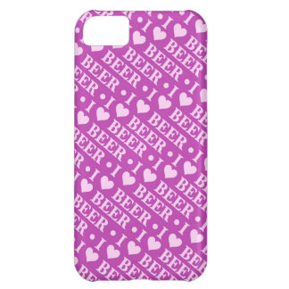I Love Beer (Pink and Purple) iPhone 5C Cover