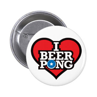 I Love Beer Pong - Red Buttons