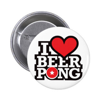 I Love Beer Pong v2 - Red Pin