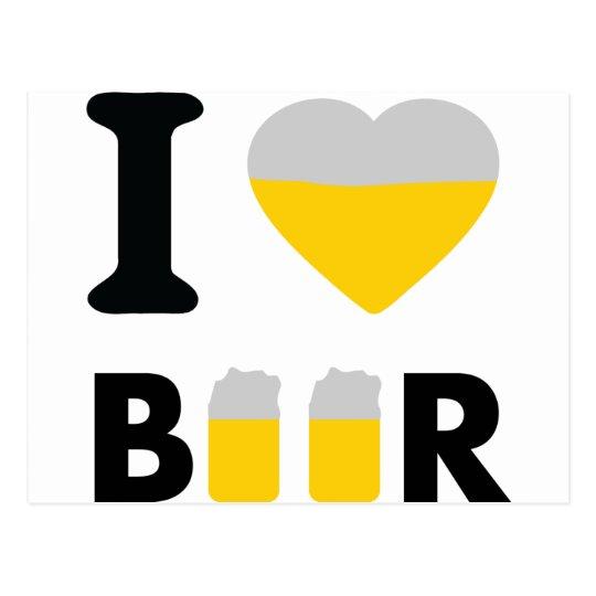 I Love beer Postcard