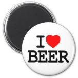 i love beer refrigerator magnet