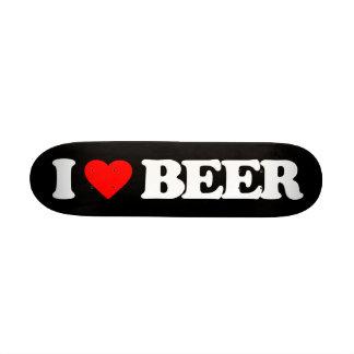 I LOVE BEER SKATE BOARD