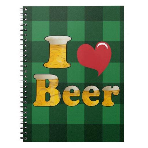 I Love Beer Spiral Notebook
