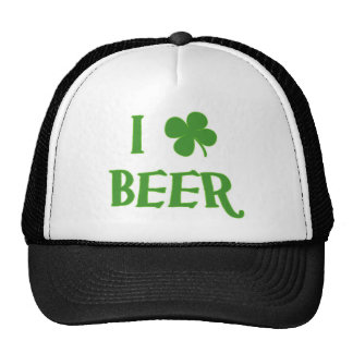 I Love Beer St. Patrick's Day Trucker Hats