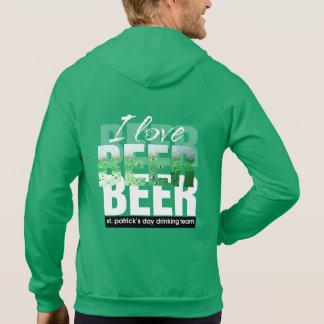 I Love Beer. St. Patrick's Day Hoodie
