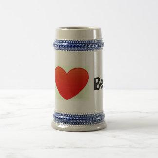 I love beer stein 18 oz beer stein