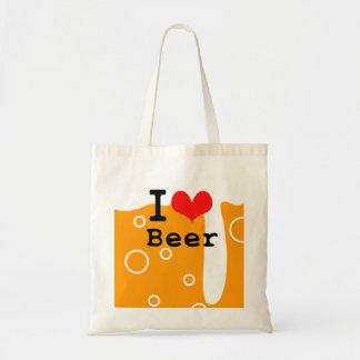 I Love Beer Tote Bag