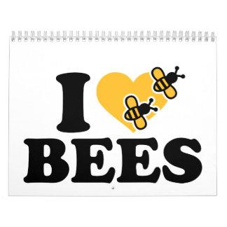 I love bees calendar