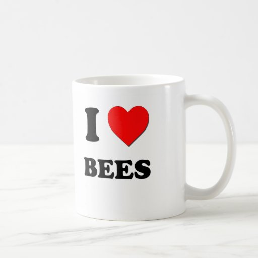 I Love Bees Classic White Coffee Mug