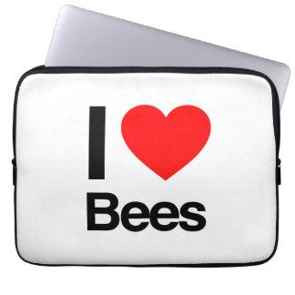 i love bees computer sleeve