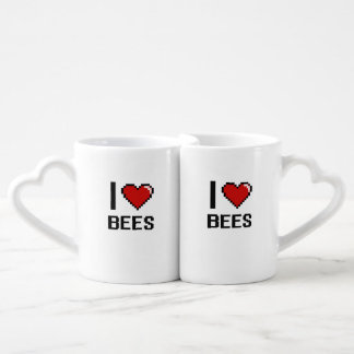 I love Bees Digital Design Couples' Coffee Mug Set