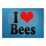 I Love Bees Greeting Card