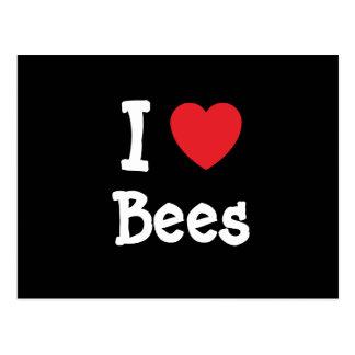 I love Bees heart custom Post Card