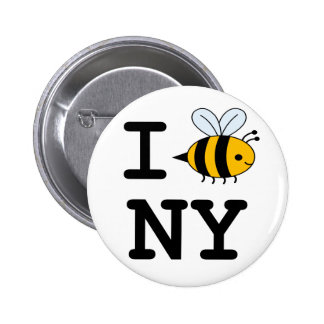 I Love Bees in New York Button