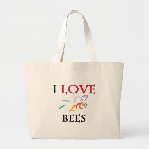 I Love Bees Jumbo Tote Bag