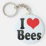 I Love Bees Key Chain