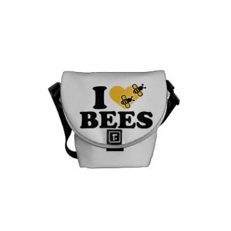 I love bees messenger bags