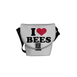 I love bees messenger bags