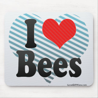 I Love Bees Mouse Pad