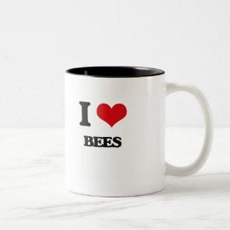 I Love Bees Two-Tone Coffee Mug
