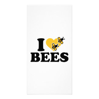 I love bees photo card template