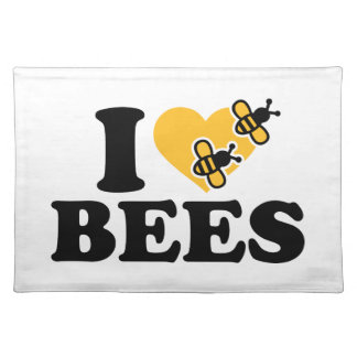 I love bees cloth placemat