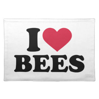 I love bees cloth place mat