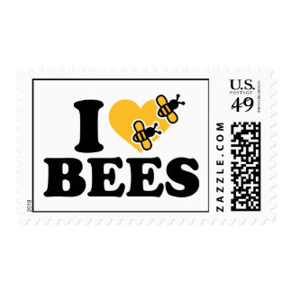 I love bees postage stamp